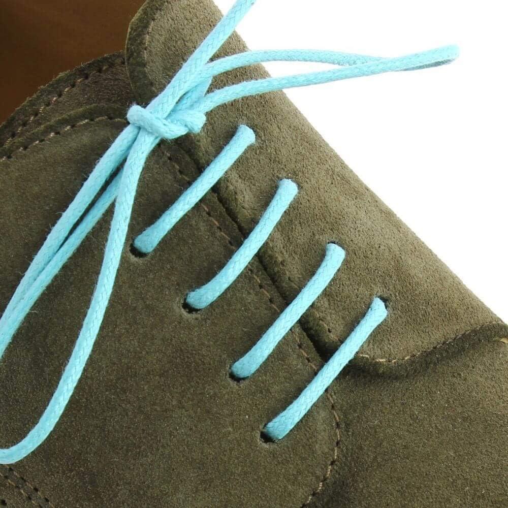Lacets Ronds Coton Cir/é Couleur Bleu Turquoise Les lacets Fran/çais