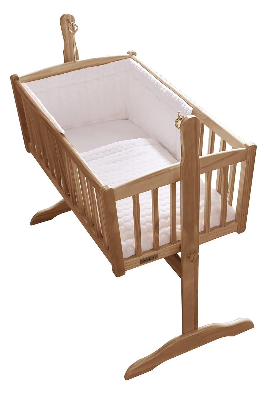 Clair de Lune Marshmallow Rocking Crib/ Cradle Quilt and Bumper Set (White) BabyCentre CL5169W