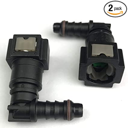 Female Bundy to Hose Barb Fuel Line Connector Quick Release for 3//8 Steel to 5//16 ID 3//8 OD Nylon Hose