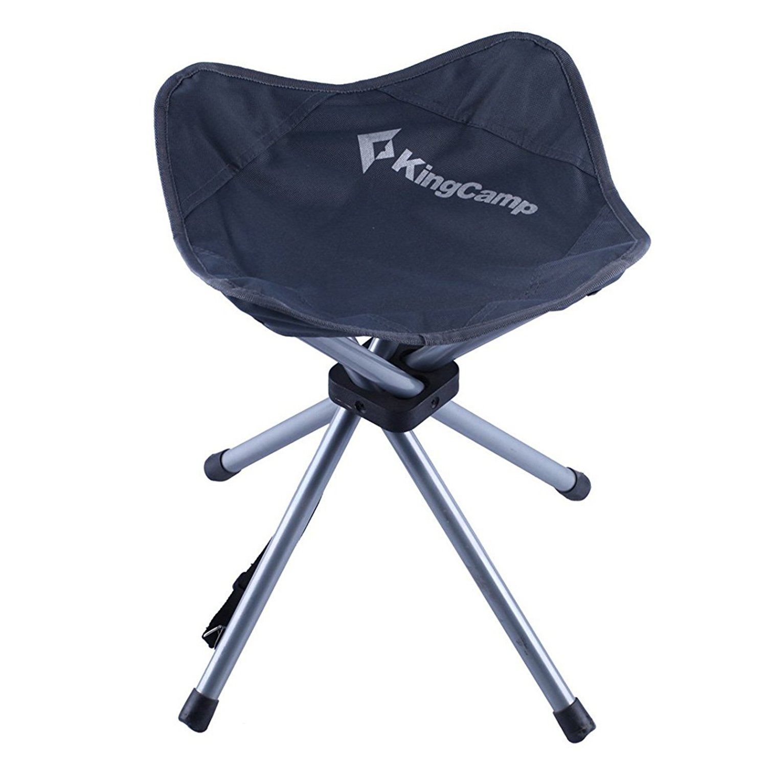 KingCamp Slacker Chair 4 Legs Folding Camp Stool Lightweight Portable Oversized Seat for Outdoor Fishing Camping Hiking