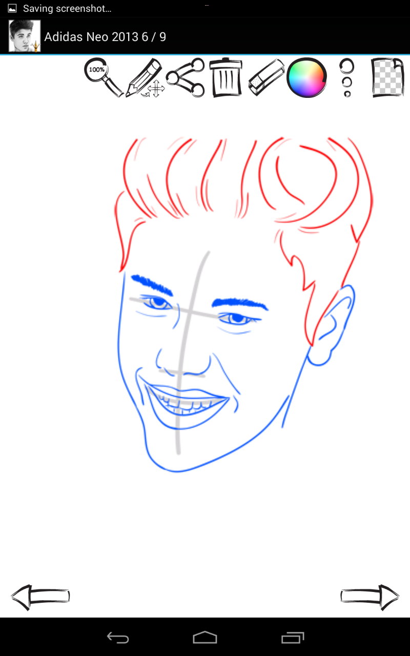 how to draw justin bieber easy
