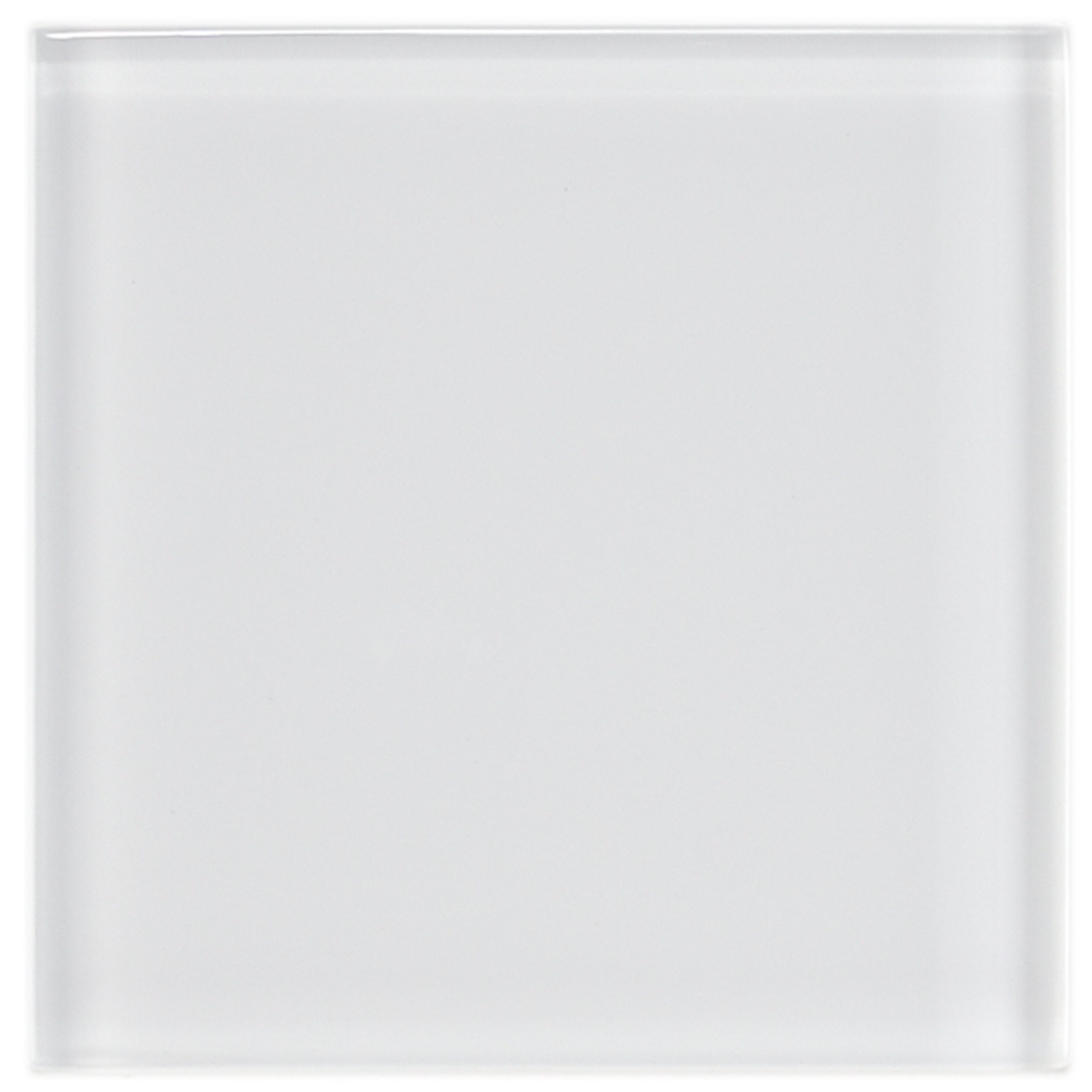SomerTile GDM4IC Sierra Glass Wall Tile, 4'' x 4'', Ice White by SOMERTILE