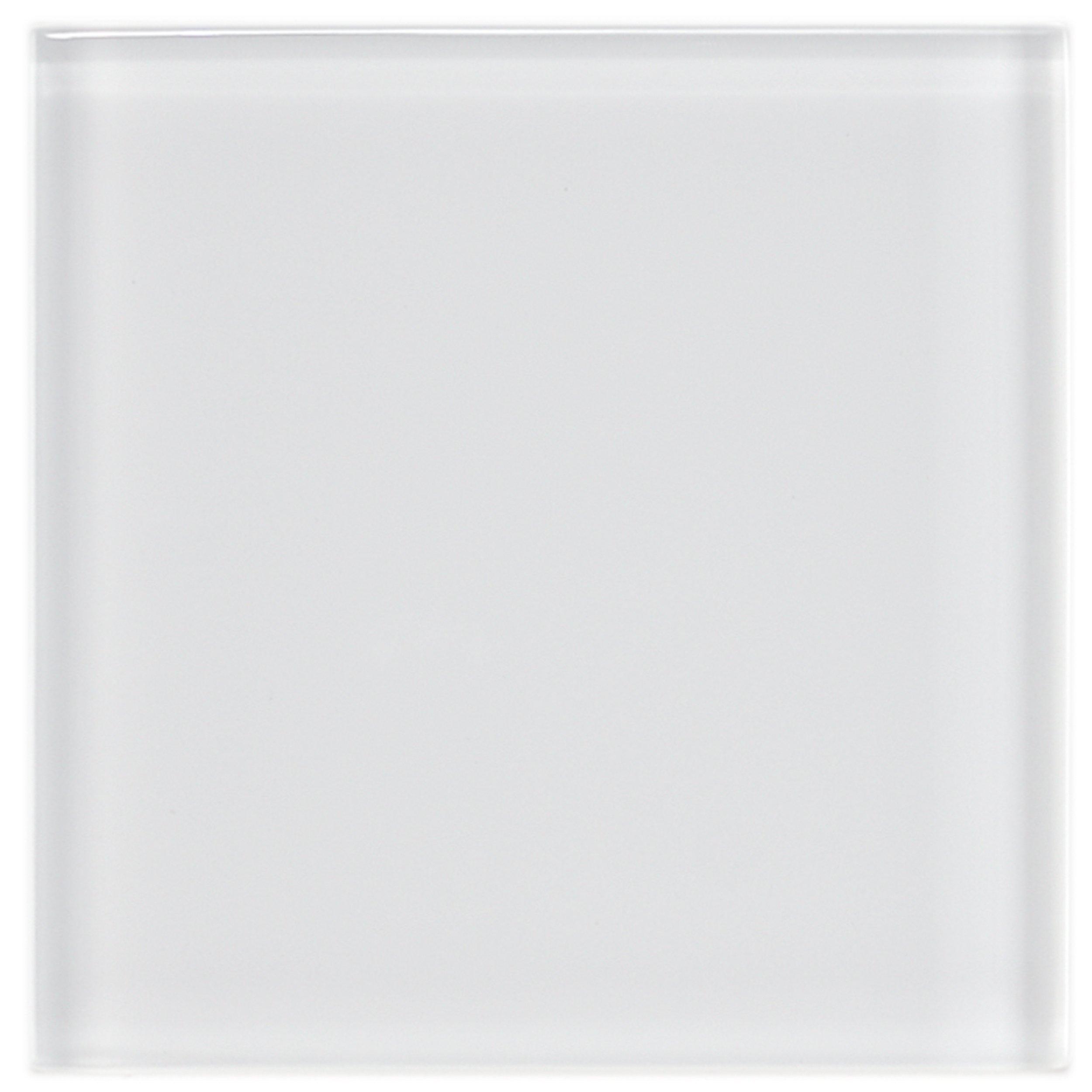 SomerTile GDM4IC Sierra Glass Wall Tile, 4'' x 4'', Ice White