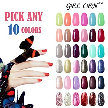 Amazon Gellen Pick Any 10 Colors Uv Gel Nail Polish Nail Art