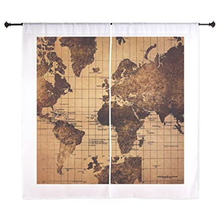 Cafepress vintage world map curtains 60 decorative window cafepress vintage world map curtains 60quot decorative window curtains sheer drapery window gumiabroncs Images