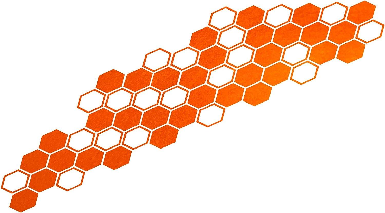 FOLIATEC Cardesign Sticker Hexagon Orange Matt Chrome