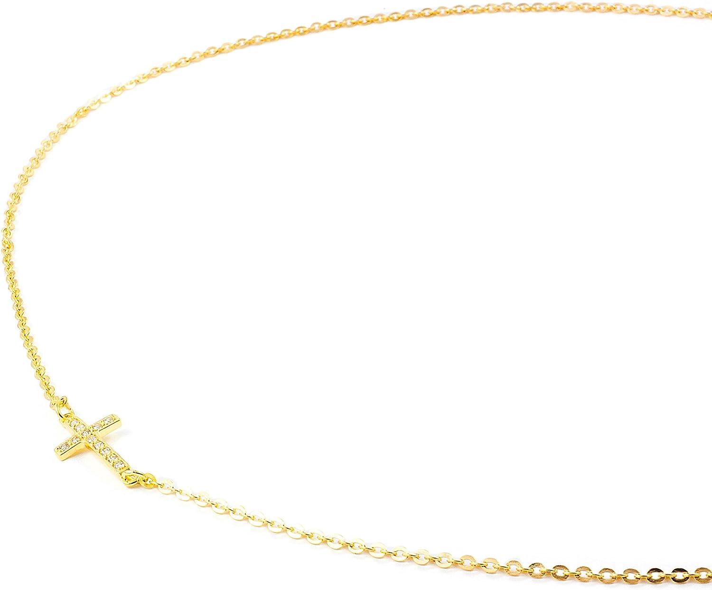 Chaine croix horizontale Or jaune 18 Carats