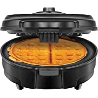 Chefman Anti-Overflow Belgian Waffle Maker w/Shade Selector, Temperature Control, Mess Free Moat, Round Iron w/Nonstick…