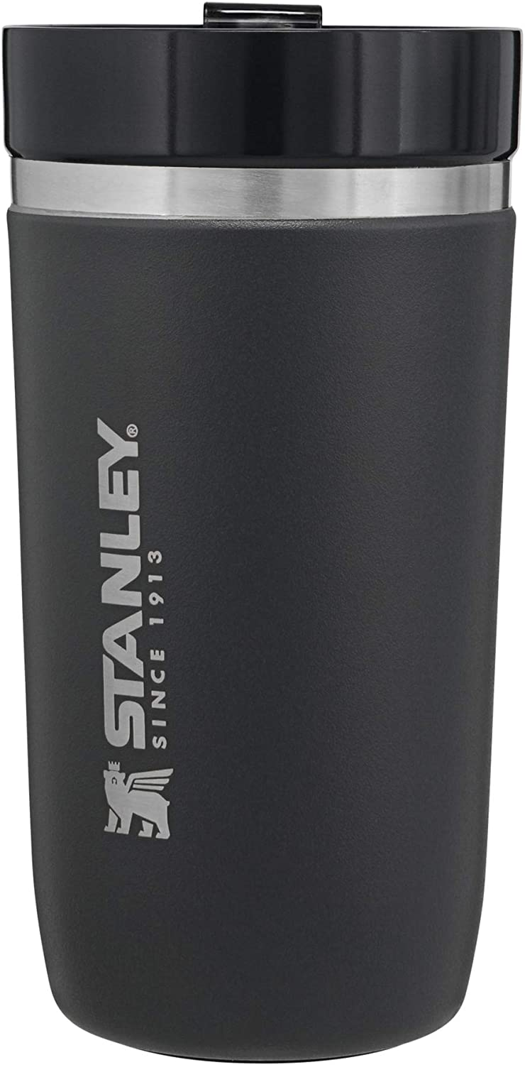 Stanley Ceramivac GO Tumbler, 16oz Stainless Steel Vacuum Insulated Coffee Tumbler, Car Cup Compatible, 7 Hours Cold and 4 Hours Hot