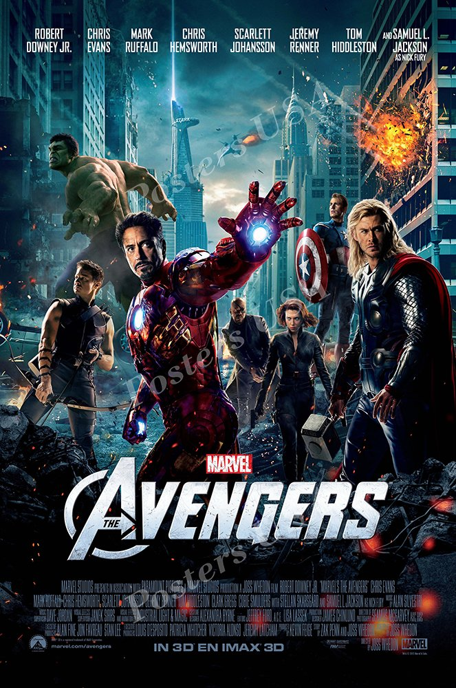 Posters USA Marvel Avengers Movie Poster GLOSSY FINISH - FIL244 (24'' x 36'' (61cm x 91.5cm))