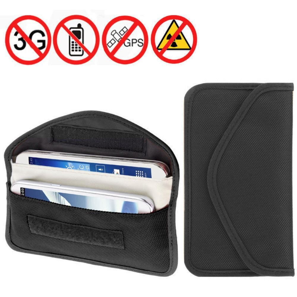REALMAX Large Faraday RFID Signal Blocker Pouch Box Bag for Car Key Protector Case Cover Tin Card Holder Wallet Keyless Fob Guard Antitheft Lock Device Phone Privacy Protection Security GSM LTE NFC