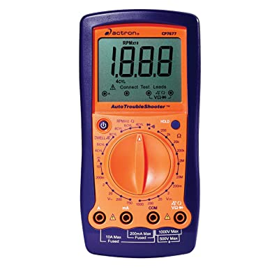 Actron CP7677 AutoTroubleShooter - Digital Multimeter and Engine Analyzer for Automotive Professionals, Orange: Automotive