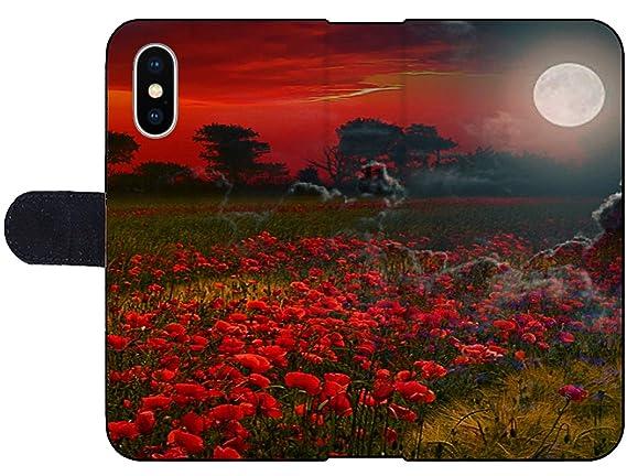 Amazon com: Apple iPhone X Flip Fabric Wallet Case Image of