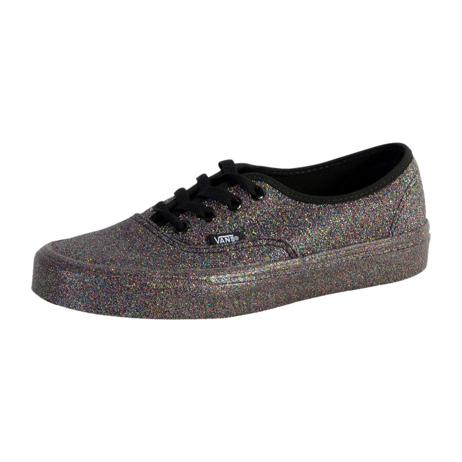 Vans Womens Authentic Rainbow Glitter Black Fashion Trainers Shoes Size 5 by Vans