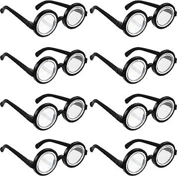 8 Piezas Gafas de Nerd Gafas con Montura Negra Gafas de Disfraz de ...