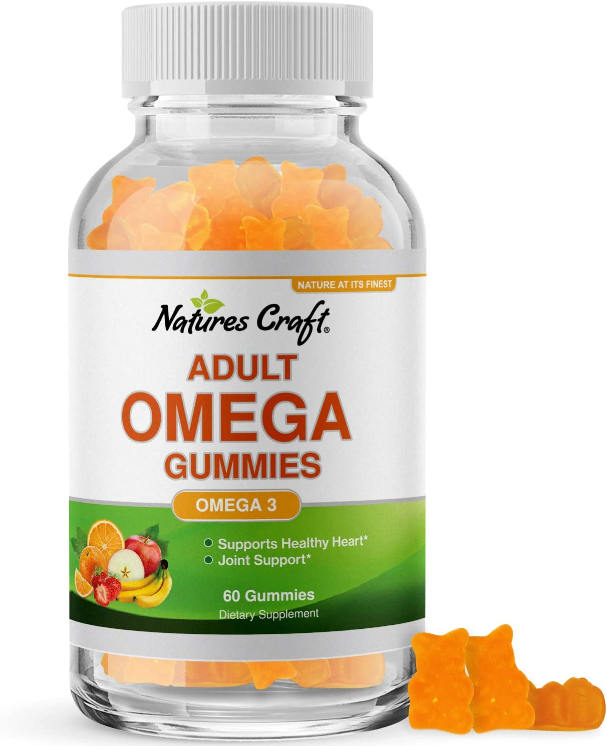 Fish Oil Omega 3 Gummies - Omega 3 6 9 and EPA DHA Adult Gummy Vitamins for Women and Men - Omega 3 Fish Oil Vitamin Gummies for Heart Health Joint Support and Brain Booster with Omega 3 Fatty Acids