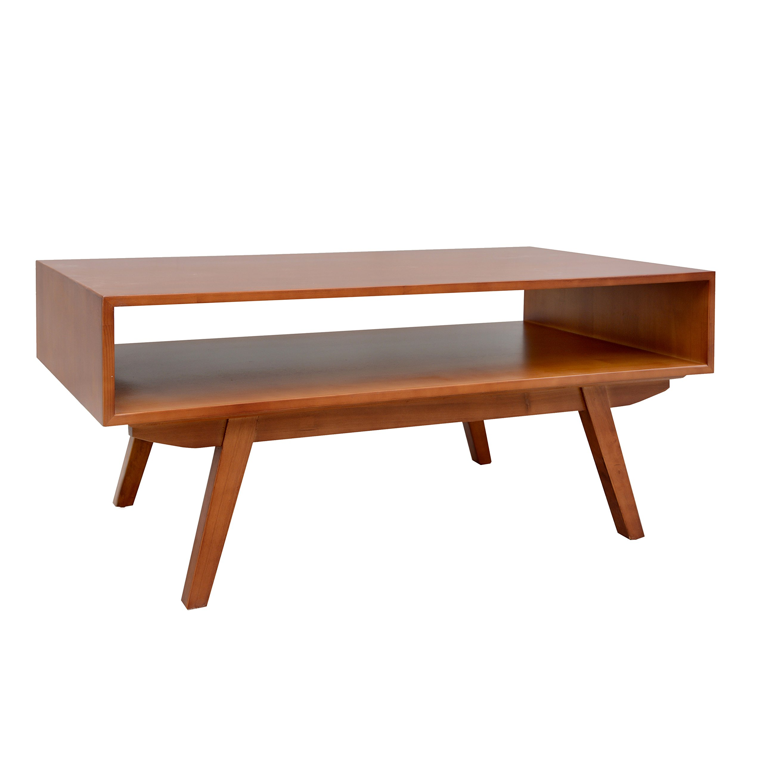 Porthos Home Mid-Century Modern Crawford Coffee Table, Natural by Porthos Home