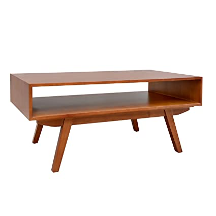 Amazon.com: Porthos Home Mid Century Modern Crawford Coffee Table, Natural:  Kitchen U0026 Dining