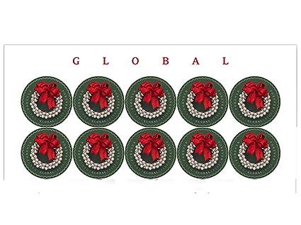 USPS Global Forever International Silver Bells Wreath Postage Stamps 10 In Total
