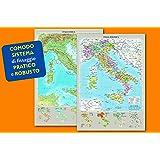 Italia fisica e politica - Carta Murale