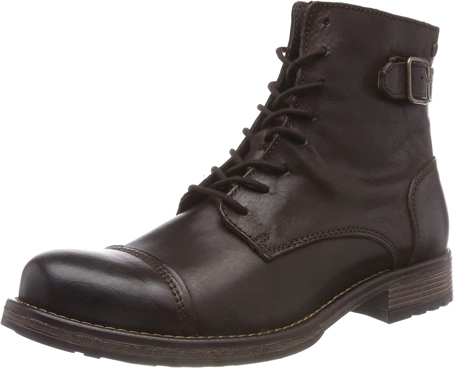 Jack & Jones Jfwsiti Leather Brown Stone, Botas Clasicas para Hombre