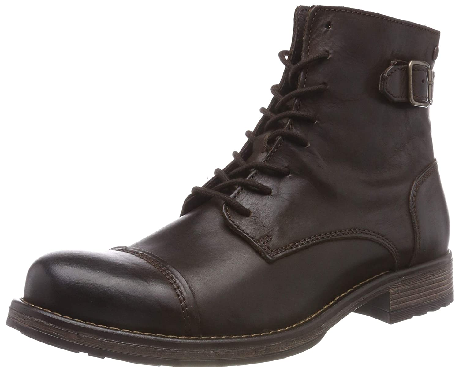 TALLA 43 EU. Jack & Jones Jfwsiti Leather Brown Stone, Botas Clasicas para Hombre