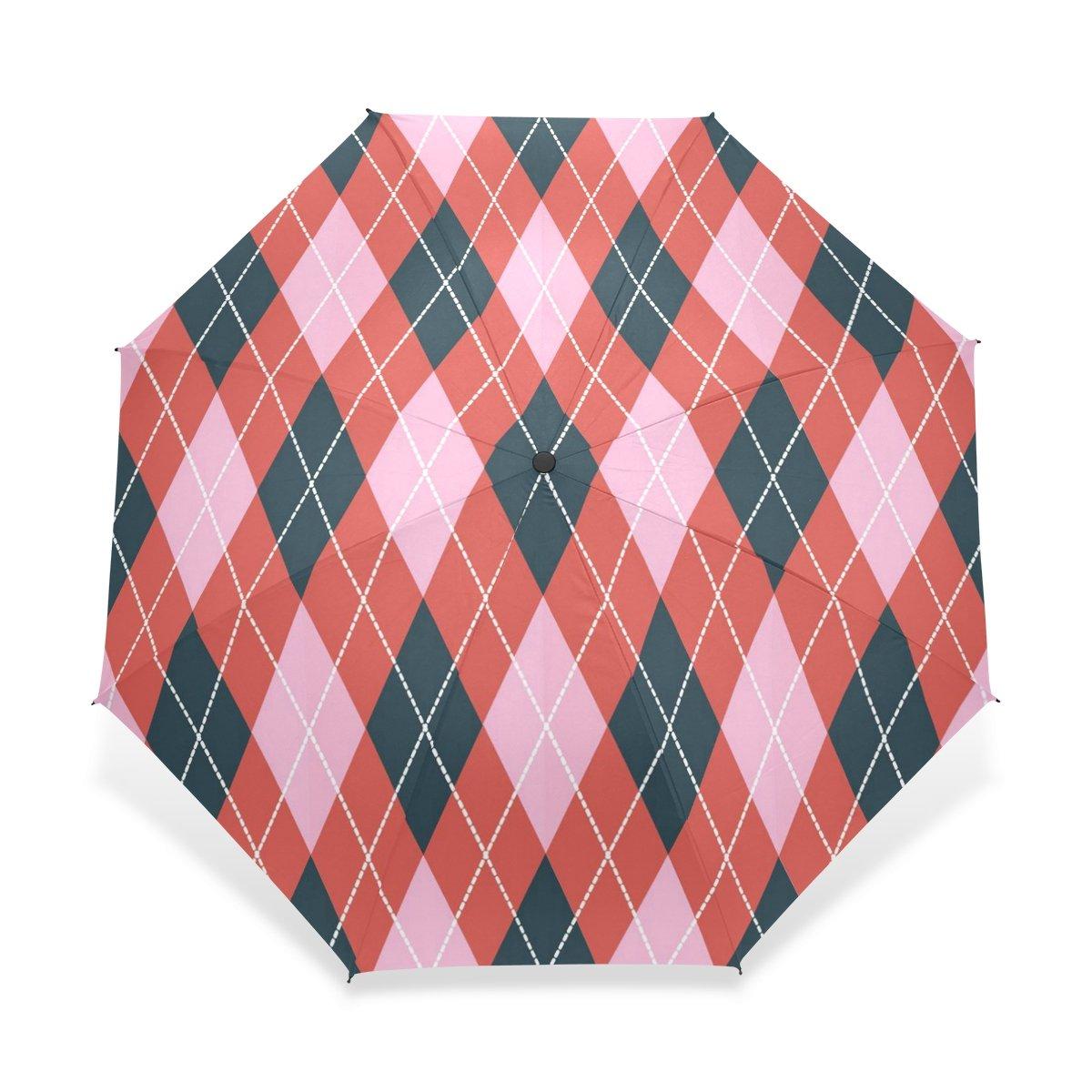 baihuishop防風強力なフレームUnbreakableアーガイルパターンゴルフ傘、コンパクトで旅行for Easy Carryingスポーツ雨傘   B01GZWA4NO