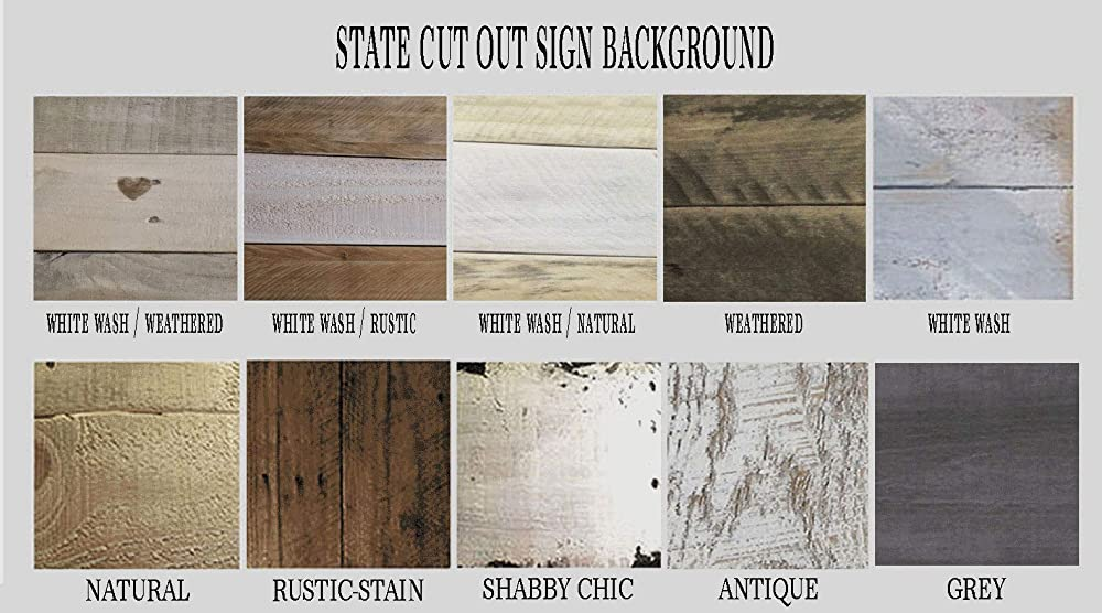 Custom Sign 17x17 You choose state and colors Wooden State Sign