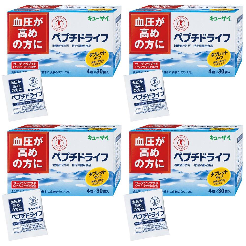 ペプチドライフ(30袋)4箱まとめ買い/キューサイ 特定保健用食品 B0795BY28Q