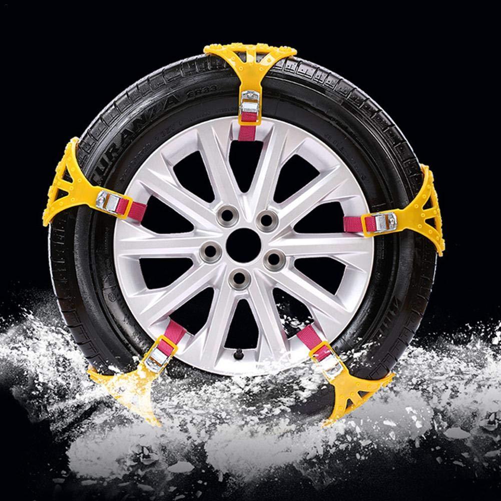 Dream-cool Anti-Rutsch-Kette Universal Rindersehne Verdickte Notfall-Reifenketten Schneeketten mit Handschuhen Schneeschaufel 6//8//10 St/ück 10 Piece