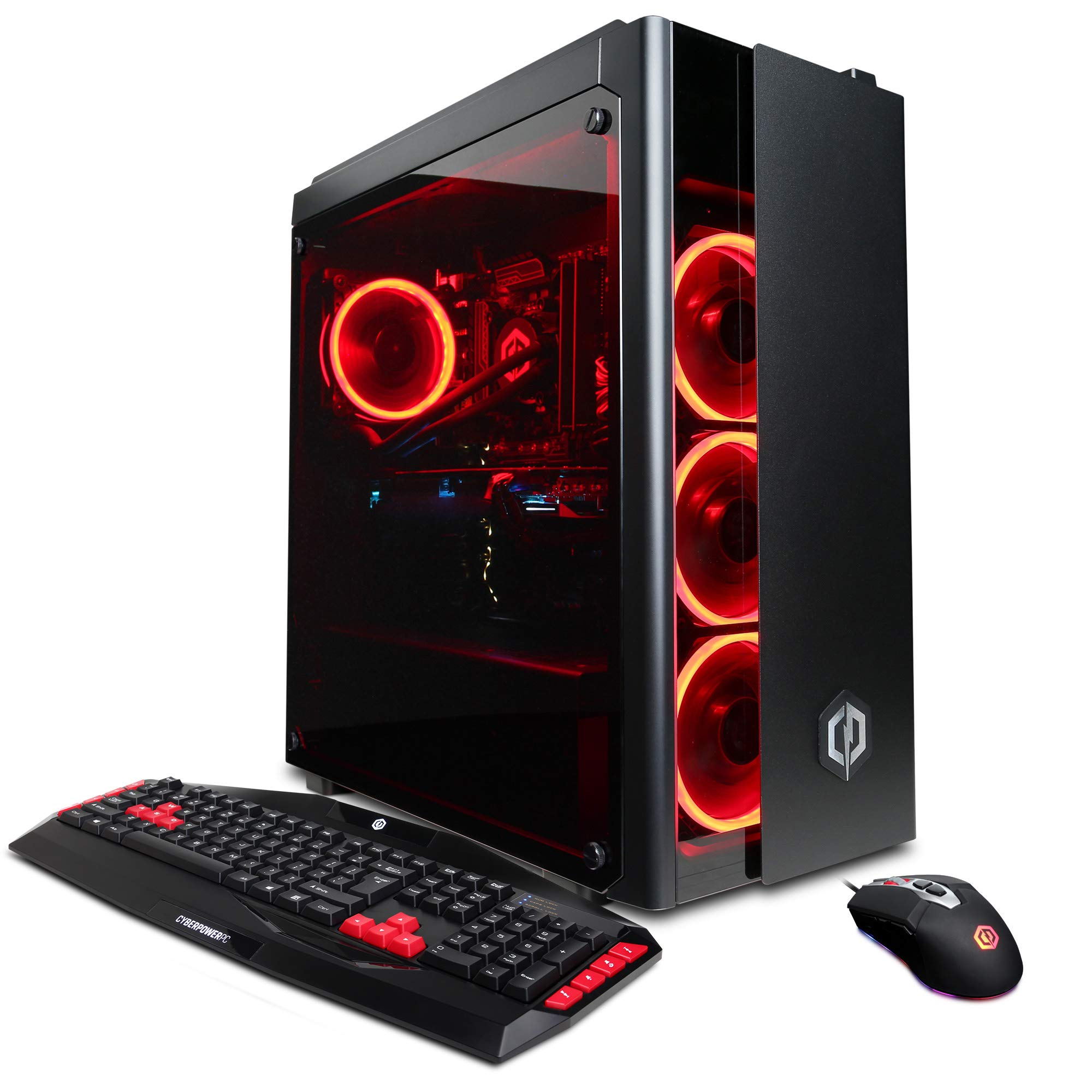 CYBERPOWERPC Gamer Xtreme VR GXiVR8080A4 Gaming PC (Liquid Cooled Intel i7-9700K 3.6GHz, 16GB DDR4, NVIDIA GeForce RTX 2080 8GB, 240GB SSD, 1TB HDD, WiFi & Win 10 Home) Black