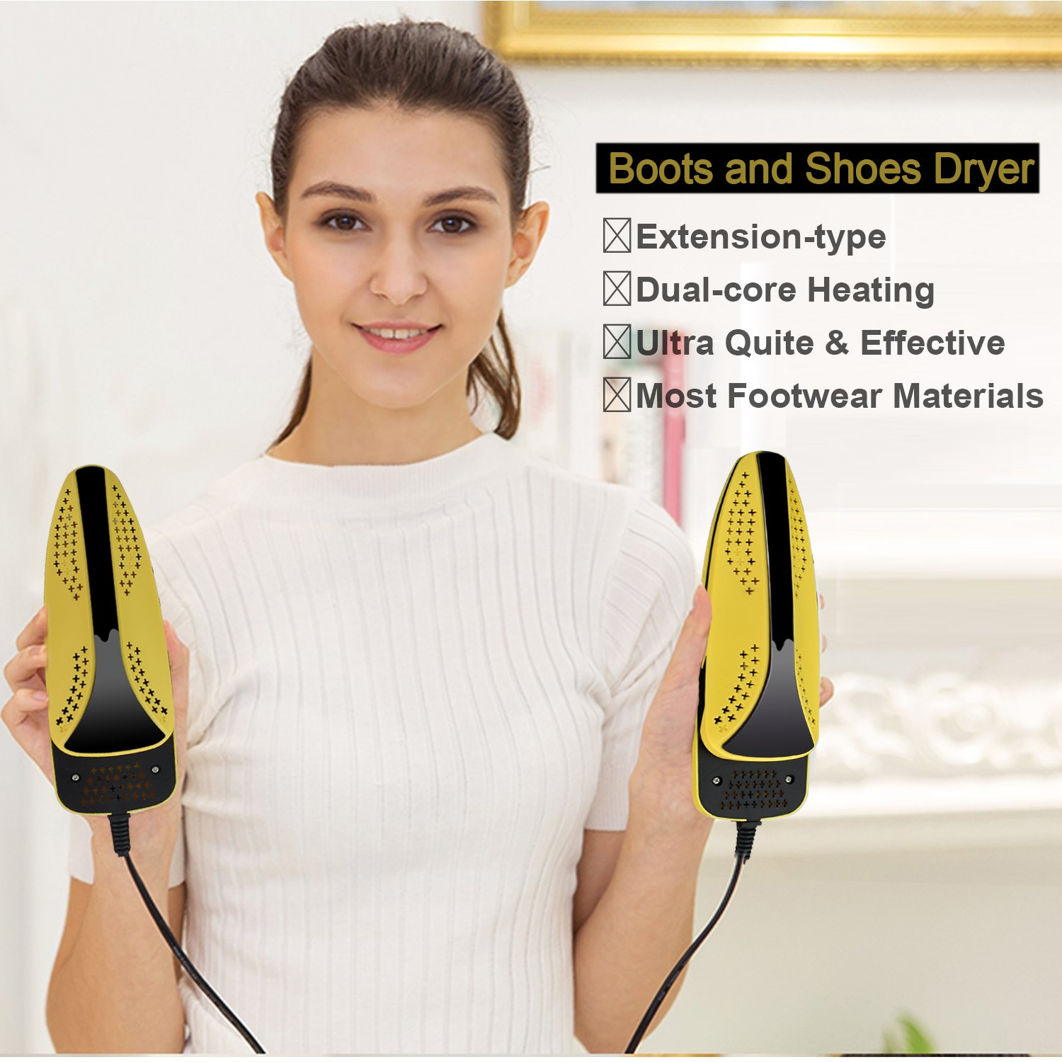 Electric Portable Foot Dryer For Eliminate Bad Odor and Sanitize SmartElite Shoe Dryer Boots Dryer With Timer Settings