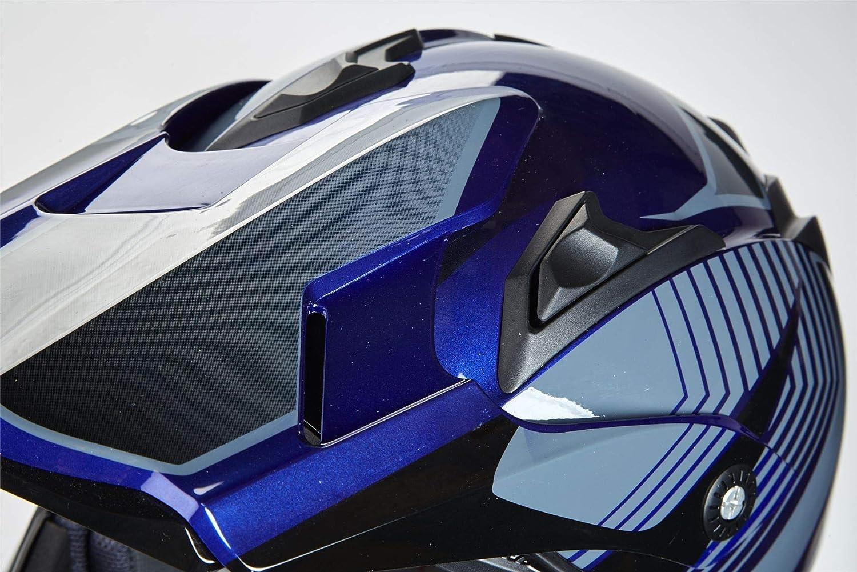 Blue with GOGGLES M 57-58cm Qtech Crash Helmet Cross MOTOCROSS Enduro Moto MX ECE22-05 MX Quad Motorcycle