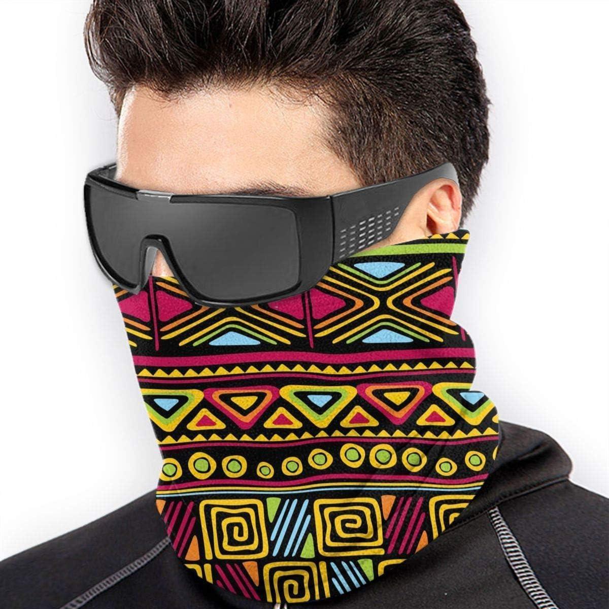 Aztec Pattern Microfiber Neck Warmer Balaclavas Soft Fleece Headwear Face Scarf Mask for Winter