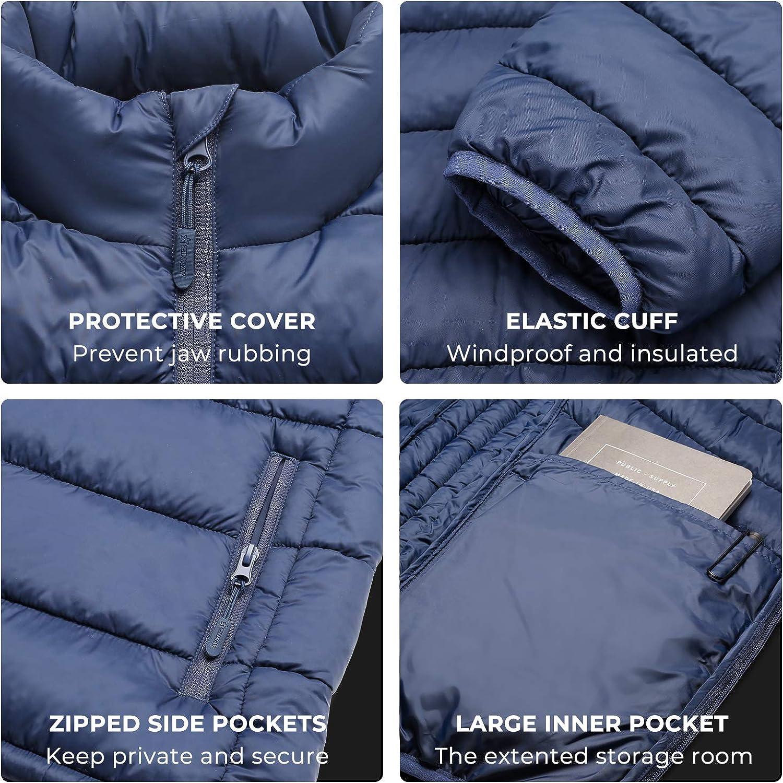 ZINRAY Damen Hoodie Kapuzenjacke Thermolite Isoliert Winterjacke mit Zip Taschen