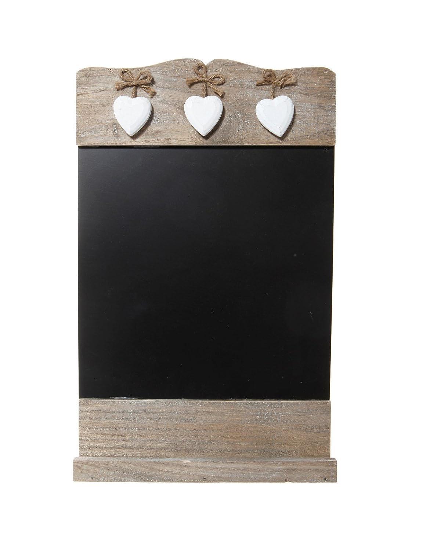 lavagnetta nera promemoria da cucina con 3 cuoricini di legno