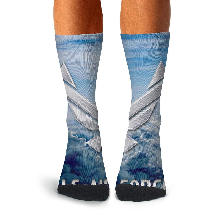 KCOSSH us air force Novelty Crew Sock Fashion Calf Socks for Men