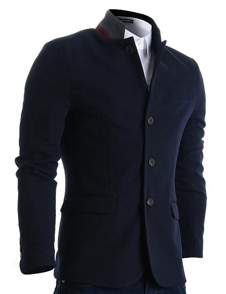 Amazon.com: FLATSEVEN Chaqueta tipo blazer de corte ...