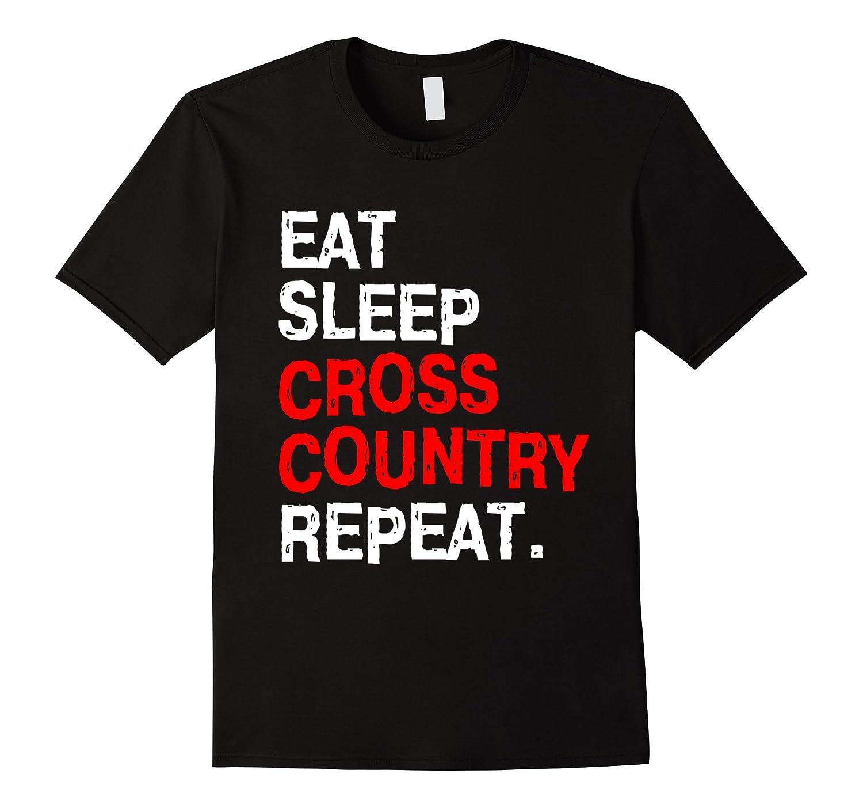 Eat Sleep Cross Country T-Shirt for Women Men Kids Girl Bike-4LVS