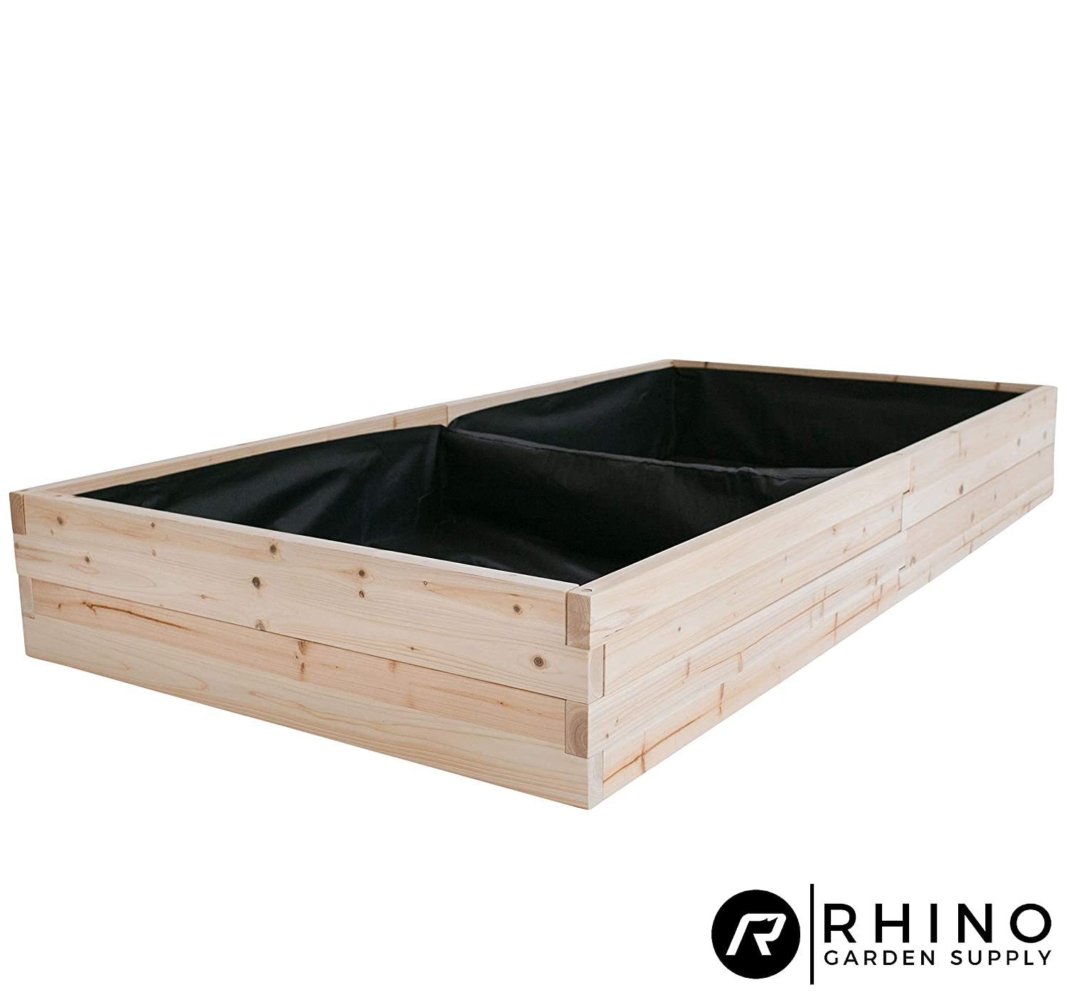 """Cedar Raised Garden Bed Kit (48"""" x 96"""" x 12""""), Weed Barrier Included - Unmatched Strength, Thicker Than All Other Elevated Planters - 100% Rot Resistant Cedar - Fast Assembly, No Tools Needed"""