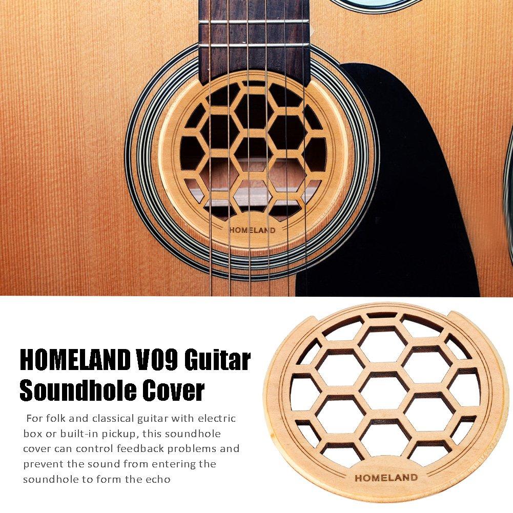 Amazon Com Guitar Soundhole Cover Wooden Sound Hole Block Feedback