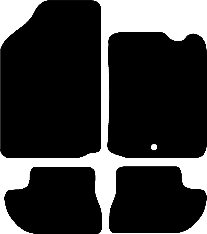 Connected Essentials CEM550 Citroen C3 5mm Rubber Car Mat Set Black with Black Trim 2009-2012