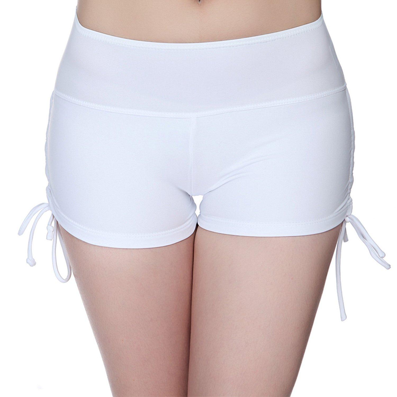 RoxZoom Women's Sports Training Shorts, Soft Stretch Athletic Yoga Drawstring Shorts Beach Pants Swim Trunks