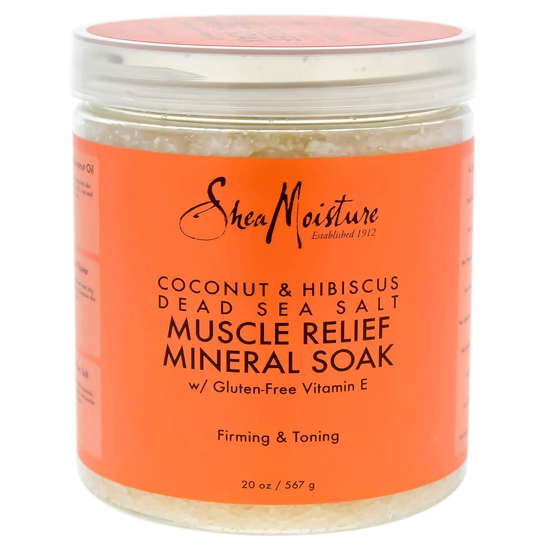 Shea Moisture Coconut & Hibiscus Dead Sea Salt Muscle Relief Mineral Soak by for Unisex - 20 oz Scrub U-BB-2702
