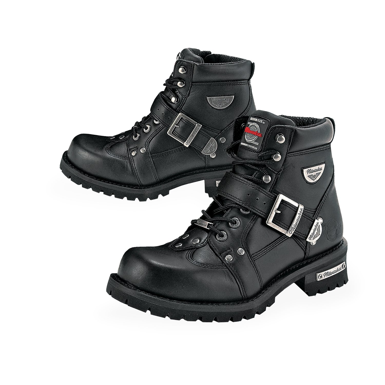 Milwaukee Motorcycle Clothing Company Men's Road Captain Motorcycle Boots (Size 12D)