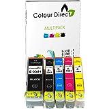 Colour Direct - 1 Impostato (5 inchiostri) - 33XL Compatibile cartucce d' Inchiostro Sostituzione Per Epson XP-530 XP 540 XP 630 XP 635 XP 640 XP 645 XP 830 XP-900 stampanti. Sostituisce serie arancia. 1 X 1 X 3351 3361 X 3362 1 1 X 3363 X 3364 1