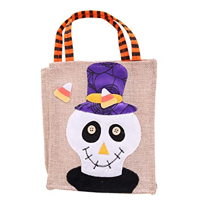 Amazon.com: Bolsa de regalo para Halloween, Trick o Treat ...