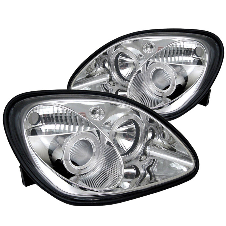 Spyder Auto Mercedes Benz Slk Chrome Halogen Projector 2000 E320 Headlight Wiring Harness Automotive