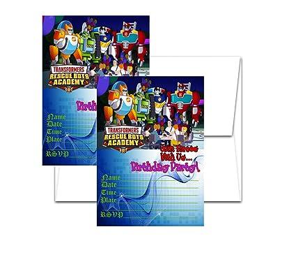 Amazon.com: 12 Rescue Bots tarjetas de invitación de ...