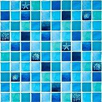 Ecoart Decorativos Adhesivos para Azulejos Pegatina de Pared,Azulejos de Gel, Efecto 3D, Autoadhesivo, para Cuarto de baño y Cocina
